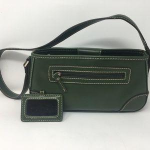 Villager Liz Claiborne Handbag Purse Dark Green